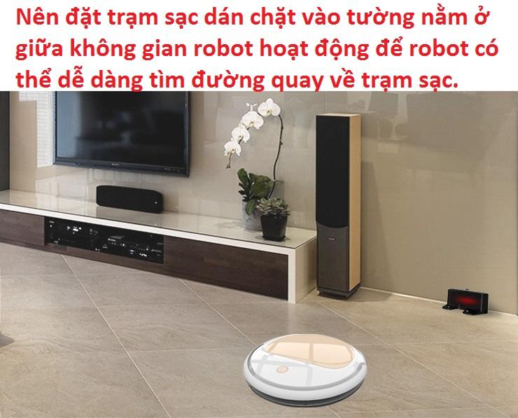 Robot hút bụi SINODOD, tự động quay về sạc điện, cảm biến chống rơi...